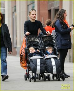 Full Sized Photo of anna paquin pushes adorable twins in double ...