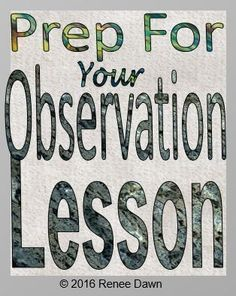 Prep for your observation lesson with The Perfect Lesson; teacher evaluation guide. Checklists, charts, cheat-sheets, teacher guides, tips, class posters, lesson plans and lesson plan templates for K ? 5.