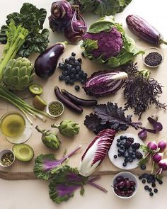 Purple power. Improve brain function, reduce the risk of cancer, and slow the metabolism of carcinogens with these purple foods, wholeliving.com