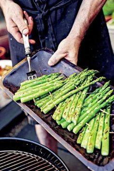 How to Grill Asparagus Recipe | Bryan Calvert's Brooklyn Rustic