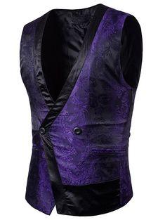 2018 New Mens Wedding Stage Show Gold Shiny Silk Sequins Waistcoat Red Black Purple Suit Vest Gilet Homme Classic Vests Blazer Vest, Suit Vest, Blazer Jacket, Jacket Men, Purple Suits, Wedding Men, Wedding Stage, Formal Wedding, Wedding Dress