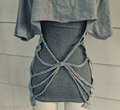 Back Braided T-shirt | Community Post: 27 Awesomely Cheap Ways To Transform A T-Shirt