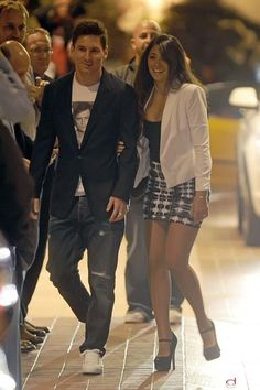 Messi and Antonella before the party