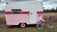 """She is quite the Diva. She is often seen strolling down the highway screaming """" Look at ME Look at ME"""". She is a 1972 Shasta Compact. About 1150 lbs. Vintage Trailers For Sale, Vintage Campers Trailers, Vintage Caravans, Vintage Rv, Retro Campers, Camping Trailer For Sale, Camping Trailers, Used Campers For Sale, Pink Trailer"""