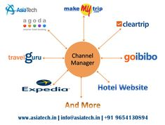AsiaTech offers fully integrated hotel channel management system for real time room availability and rate management across multiple OTAs like Via, Goibibo, cleartrip, MakeMyTrip, Expedia, Agoda, Yatra, Travel Guru.  Grow your hotel revenue through real time our online channel manager software. Increases hotel booking occupancy, efficient and time-saving, maximize hotel revenue, easily manage hotel inventory rates & management from single user Eco friendly dashboard.