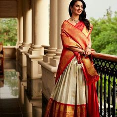 Looking for Jacket Blouse Designs for sarees? Here are our picks of 16 amazing blouse designs you can wear with any saree. Lehenga Saree Design, Half Saree Lehenga, Lehenga Style, Saree Look, Lehenga Designs, Saree Dress, Saree Blouse Designs, Gold Lehenga, Choli Designs