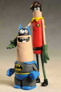 DC Nation Batman, Robin, Aardman style figures by DC Collectibles Batman Arkham City, Batman Arkham Origins, Gotham City, Batman Comic Art, Batman Comics, Batman Robin, Clay Animation, Comic Pictures, Play Dough