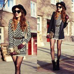 Vestido corto vintage