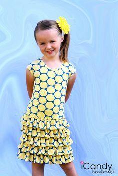 (tutorial and pattern) Layers of Sunshine Dress - iCandy handmade--size 5t pattern