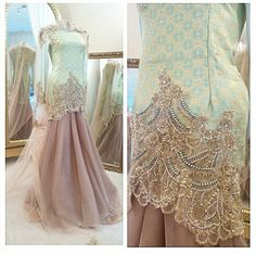 Songket wedding dress