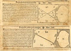 Juan de Alcega's Tailor's Pattern book of 1589 page 80 a+b ropa