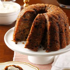 """Tiny Tim's Plum Pudding Recipe -In """"A Christmas Carol,"""" everyone claps for plum pudding. Our family has made this pudding our own tradition, and it really is something to clap for. —Ruthanne Karel, Hudsonville, Michigan"""