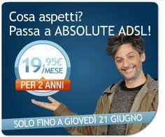 Infostrada lancia la nuova promozione 4Days web Infostrada: ABSOLUTE ADSL con sconto dell'abbonamento mensile per 2 anni
