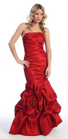 Elegant Dress Mermaid Floor Length Formal Teal Gown Strapless Ruched