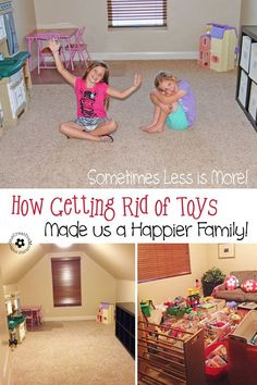 It is possible for kids to have too much of a good thing. Find out how getting rid of most of our toys made us a happier family! {OneCreativeMommy.com}: