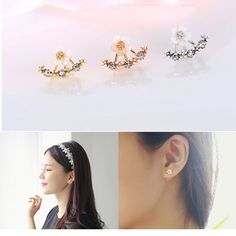 Cute Daisy Flower Crystal 925 Silver Needle Ear Stud Earrings For Women at Banggood Body Jewelry, Jewelry Sets, Women Jewelry, Pendant Earrings, Women's Earrings, Ear Studs, Flower Earrings, Crystal Rhinestone, 925 Silver
