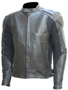 Made with 1.2-1.3 mm thick, heavy duty Calfskin leather, this Biker Protective Gear Men's Black Motorcycle Leather Jacket offers a lot of durability and style. CE approved extra strong padding is inst