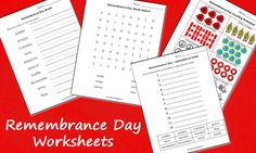 Mom Ed. Remembrance Day, Worksheets, Fall Things, Activities, Spiders, Words, School, Free, Decor Ideas