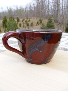 Stoneware Coffee or Soup Mug by DoraLAnderson on Etsy, $23.00