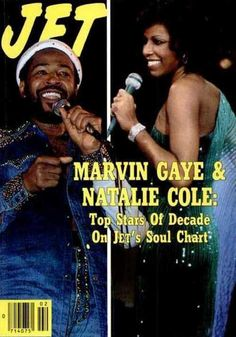 Marvin Gaye and Natalie Cole on the cover of Jet magazine, 1979.
