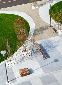 North P Gateway and Pocket Park in Cambridge/Boston, Massachusetts (USA). By Landworks Studio.