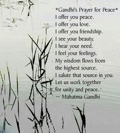 Gandhi's Prayer