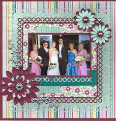 Wedding Scrapbook Page No colors though just back and white...