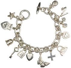 silver charm bracelet - Love the Butterfly!!
