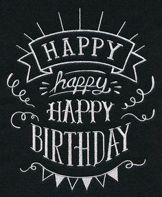 Happy Happy Happy Birthday design (L2288) from www.Emblibrary.com