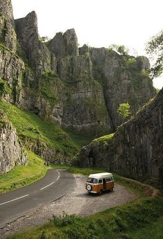 Traveling Through Cheddar Gorge, Somerset