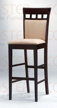 Upholstered Back Espresso Finish Bar Stool Chair by Coaster Set of 2