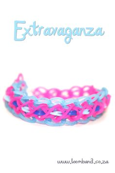 Extravaganza Loom Band bracelet tutorial instructions and videos on hundreds of loom band designs, Leading online Loom band supplies in SA, Next day delivery
