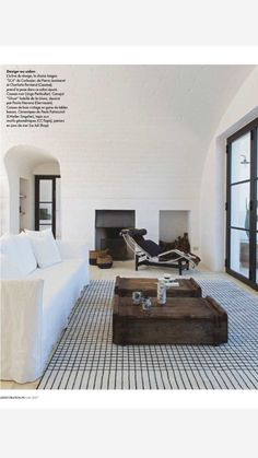 Painted white brick downstairs for cozy feeling? Living Room Inspiration, Interior Inspiration, Black And White Interior, Dream Apartment, Cuisines Design, Architect Design, Modern Room, Living Room Interior, Decoration