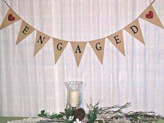 Wedding Banner /  I DO /  Burlap Banner  /  by expressionsindesign, $25.50
