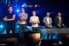 Louis Tomlinson, Harry Styles, Niall Horan, Liam Payne, and Zayn Malik of One Direction perform during Z100's Jingle Ball 2012 presented by Aeropostale at Madison Square Garden on December 7, 2012 in New York City.