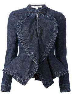 GIVENCHY - denim peplum jacket, love that it looks almost like a heart-shape