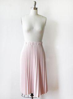 light pink pleated skirt / vintage 80s dusty by RustBeltThreads