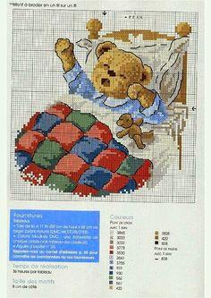 ♥Meus Gráficos De Ponto Cruz♥: Ursinhos Bebês em Ponto Cruz
