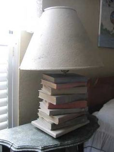 Need a light? Have a bunch of old books laying around that you're not interested in reading? Make a library lamp! This unusual and functional work of art is sure to get great reviews from friends.