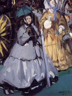 """Women at the Races"" by French artist - Édouard Manet Oil on canvas, Dimensions unknown, Cincinnati Art Museum - Cincinnati, Ohio, USA. Claude Monet, Paul Cezanne, Renoir, Oil On Canvas, Canvas Art, Canvas Prints, Munier, Cincinnati Art, Georges Seurat"