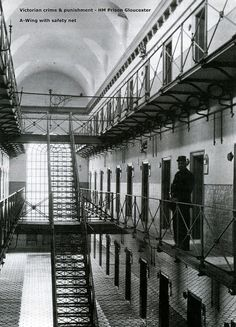 Victorian crime & punishment - A-Wing HM Prison Gloucester, England