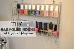 Keep your favorite nail polish colors in a spice rack. | 31 Ways You Can Reorganize Your Life With Dollar Store Stuff