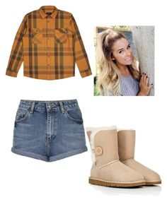 """""""clothes 333"""" by bellskids on Polyvore featuring Brixton, UGG Australia and Topshop"""