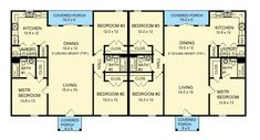 Duplex 3 bed/ea - Add 2nd floor, make one floor 1 unit for a 3 unit home.