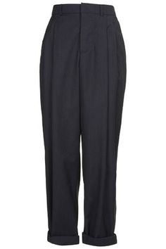 Pinstripe Wool Mensy Trousers by Boutique