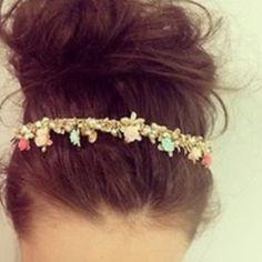 headband and a messy bun #hair