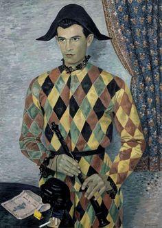 "Gino Severini 1938 ""Arlequin. Portrait de Nino Franchina"""