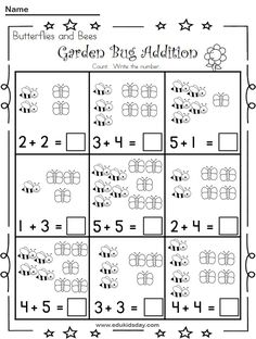 Free Printable Addition 1 Digit Worksheets - Edukidsday.com