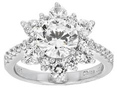 Bella Luce® 6.00ctw Rhodium Over Sterling Silver Ring