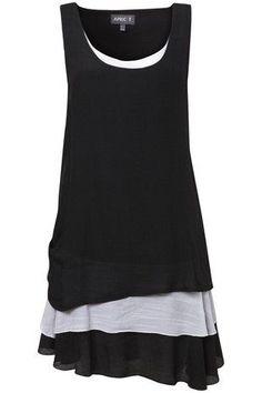 Black Layered Bottom Tunic on Womens Clothing